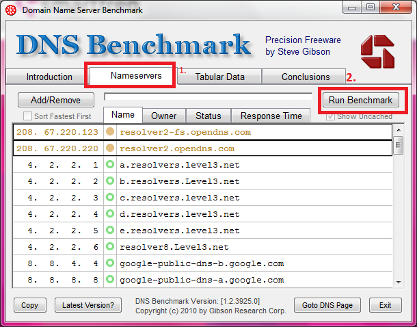 Download software DNS Benchmark ( DOWNLOAD ) Buka aplikasi