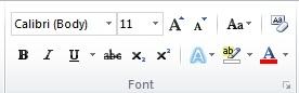 1 Menentukan Jenis dan Ukuran huruf yang akan digunakan